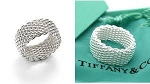 Tiffany & Co.  Mesh Ring in Sterling Silver SIZE 8