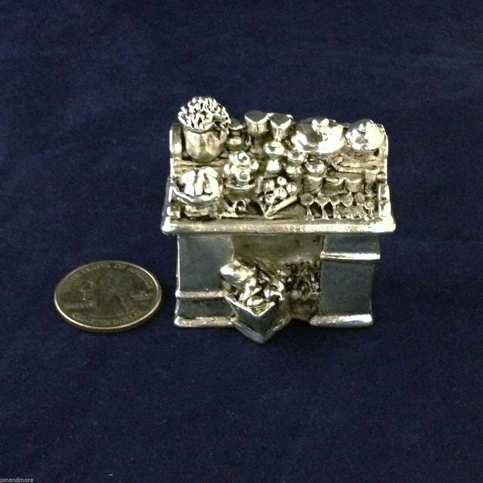 .925 Sterling Silver Decorative Art Dollhouse miniature Kitchen - Complete!