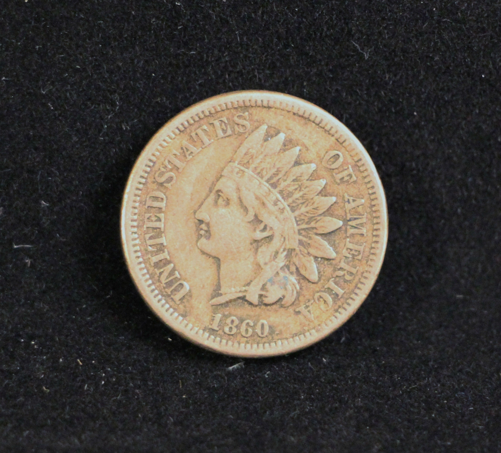 1860 INDIAN HEAD Penny One cent coin CIVIL WAR -NICE DETAIL! L@K FREE S&H