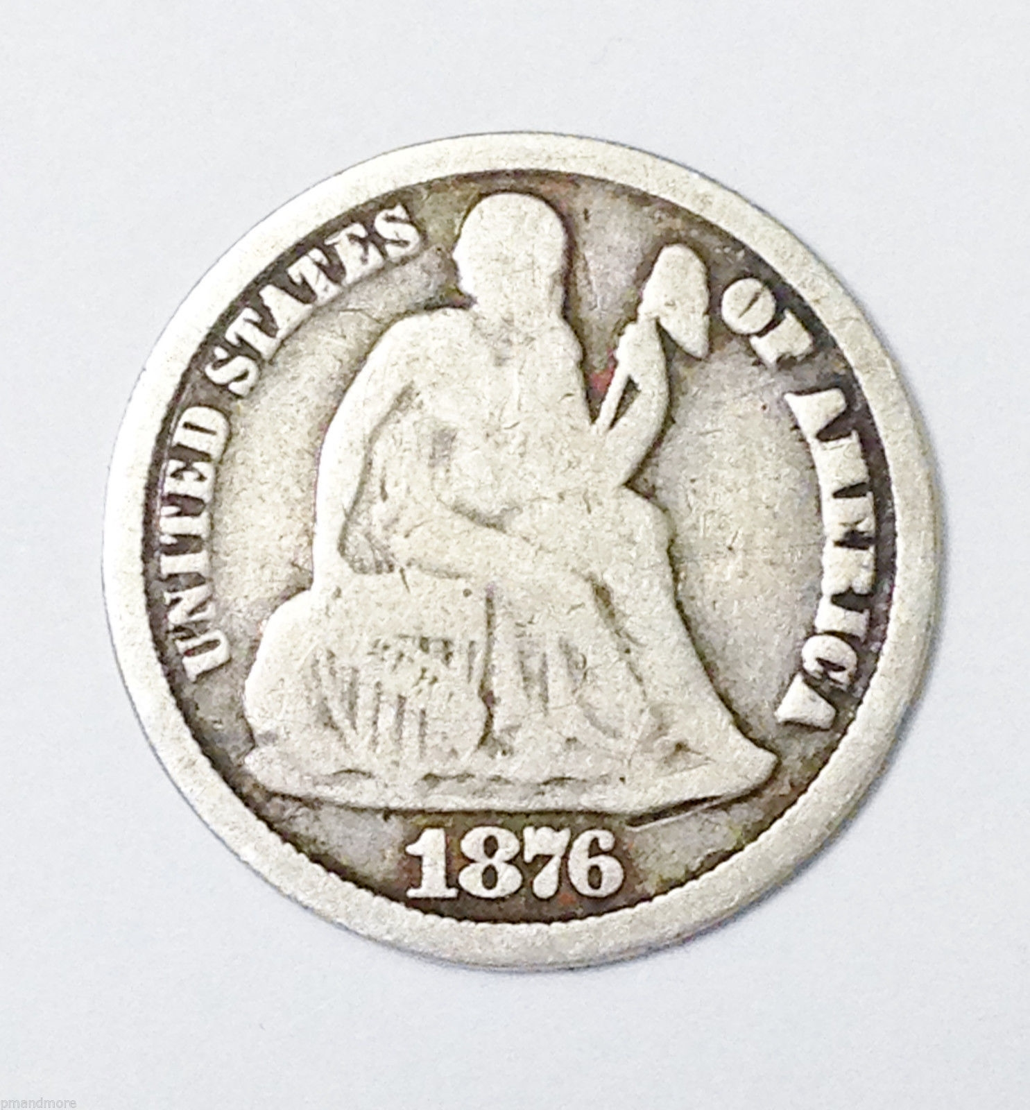 1876 CC CARSON CITY MINT DOUBLE DIE LIBERTY SEATED DIME TEN 10 CENTS -GOOD COIN!