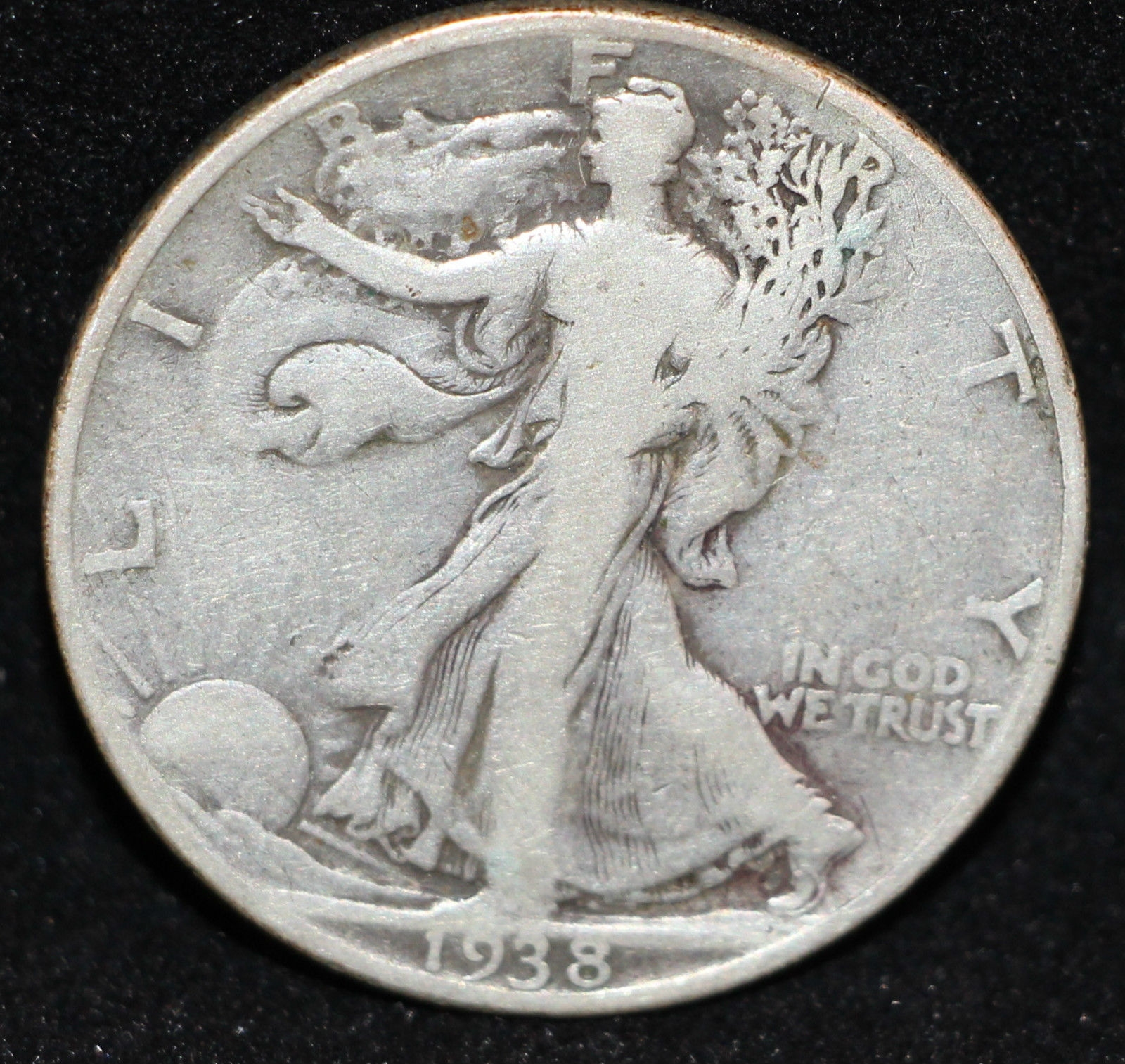 1938 D  Walking Liberty Silver Half Dollar RARE KEY DATE! L@K ONLY 492K minted