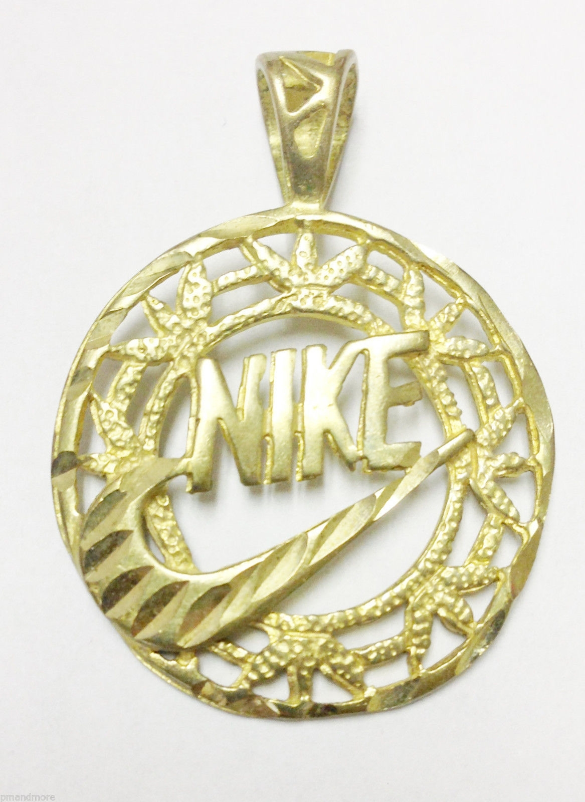 HARD TO FIND & UNIQUE 14K SOLID YELLOW GOLD NIKE PENDANT - 5.2 GRAMS - FREE S&H