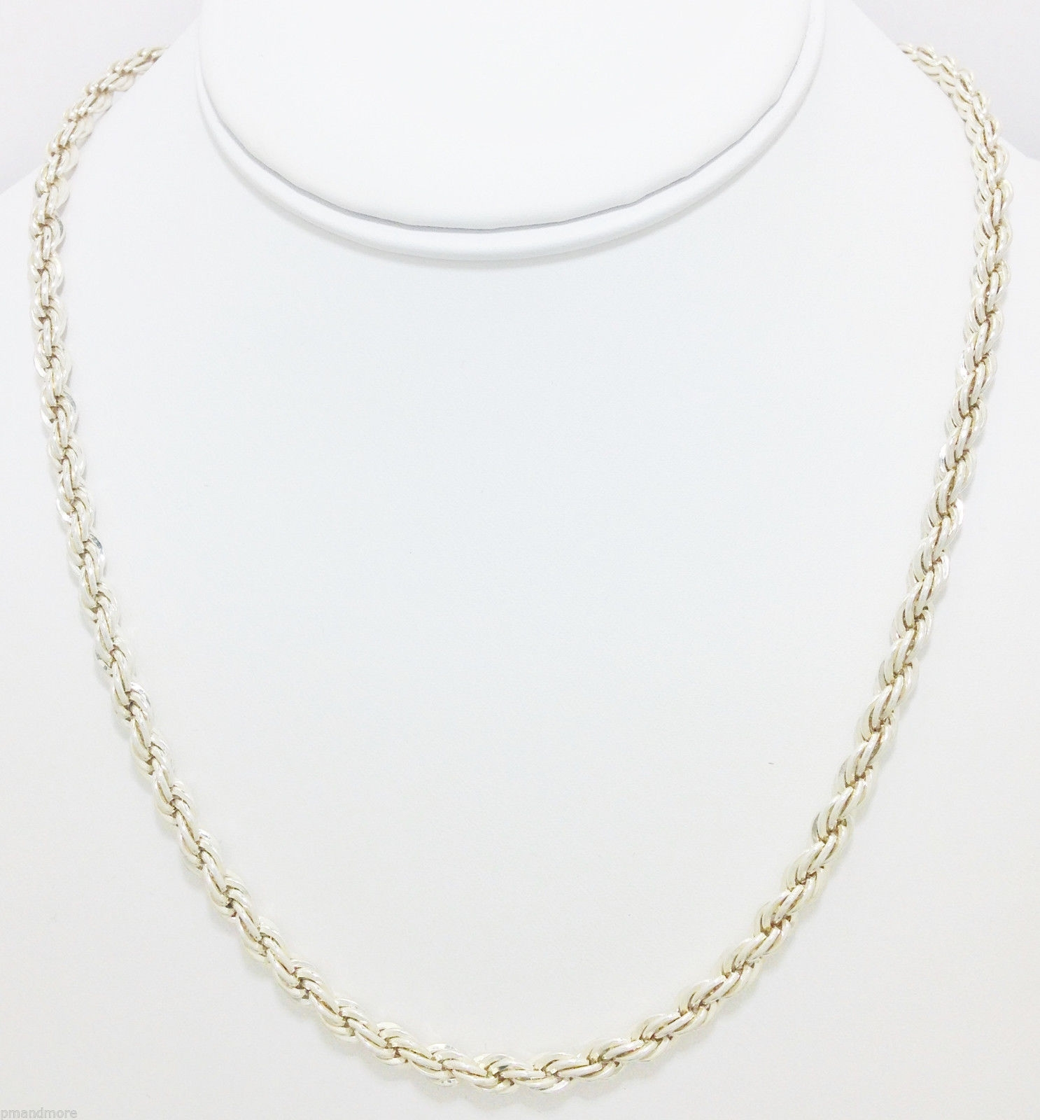HEAVY STERLING SILVER ROPE CHAIN NECKLACE 20