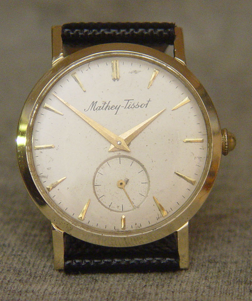 Vintage Solid 14K Gold Mathey-Tissot  WristWatch