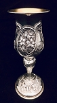 SOLID STERLING SILVER  KIDDUSH CUP GOBLET