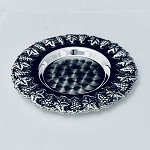 ROUND  GRAPE 925 STERLING SILVER  TRAY / PLATE 4.5