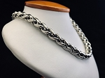 DAVID YURMAN 925 STERLING SILVER & 585 14K ROPE CHAIN