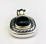 DAVID YURMAN 925 STERLING SILVER ALBION  ONYX ENHANCER PENDANT