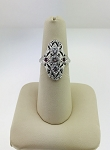 ANTIQUE ART DECO 14k WHITE GOLD & DIAMOND FILIGREE RING (COPY)