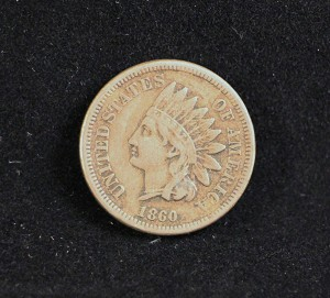 1860 INDIAN HEAD Penny One cent coin CIVIL WAR -NICE DETAIL! L@@K FREE S&H