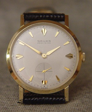 Vintage Solid 14K Gold Gruen Precision WristWatch